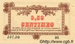 50 Centimes FRANCE régionalisme et divers MONTPELLIER 1915 JP.085.01 TTB à SUP