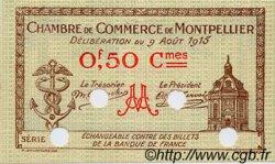 50 Centimes FRANCE régionalisme et divers MONTPELLIER 1915 JP.085.05 SPL à NEUF