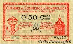 50 Centimes FRANCE régionalisme et divers Montpellier 1915 JP.085.06 TTB à SUP