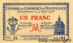 1 Franc FRANCE régionalisme et divers MONTPELLIER 1915 JP.085.10 TTB à SUP