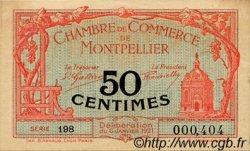 50 Centimes FRANCE régionalisme et divers MONTPELLIER 1919 JP.085.20 TTB à SUP