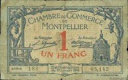 1 Franc FRANCE régionalisme et divers MONTPELLIER 1919 JP.085.21 TB