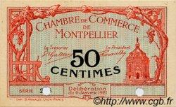 50 Centimes FRANCE régionalisme et divers Montpellier 1921 JP.085.23 SPL à NEUF