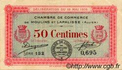 50 Centimes FRANCE régionalisme et divers MOULINS ET LAPALISSE 1916 JP.086.01 TTB à SUP