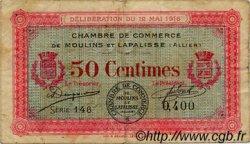 50 Centimes FRANCE régionalisme et divers MOULINS ET LAPALISSE 1916 JP.086.01 TB