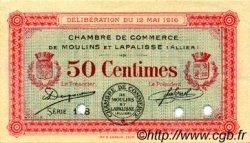 50 Centimes FRANCE régionalisme et divers Moulins et Lapalisse 1916 JP.086.02 SPL à NEUF