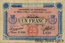 1 Franc FRANCE régionalisme et divers Moulins et Lapalisse 1916 JP.086.04 TTB à SUP