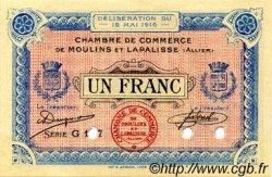 1 Franc FRANCE régionalisme et divers MOULINS ET LAPALISSE 1916 JP.086.06 SPL à NEUF