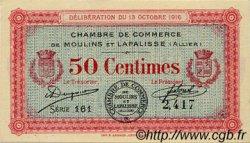 50 Centimes FRANCE régionalisme et divers MOULINS ET LAPALISSE 1916 JP.086.07 SPL à NEUF
