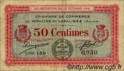 50 Centimes FRANCE régionalisme et divers MOULINS ET LAPALISSE 1916 JP.086.07 TB