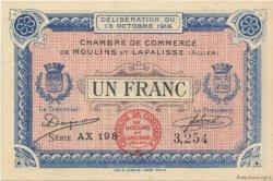 1 Franc FRANCE régionalisme et divers Moulins et Lapalisse 1916 JP.086.09 SPL à NEUF