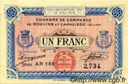 1 Franc FRANCE régionalisme et divers Moulins et Lapalisse 1916 JP.086.09 TTB à SUP