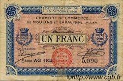 1 Franc FRANCE régionalisme et divers MOULINS ET LAPALISSE 1916 JP.086.09 TB