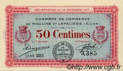 50 Centimes FRANCE régionalisme et divers Moulins et Lapalisse 1917 JP.086.11 SPL à NEUF