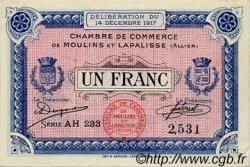 1 Franc FRANCE régionalisme et divers Moulins et Lapalisse 1917 JP.086.13 TTB à SUP