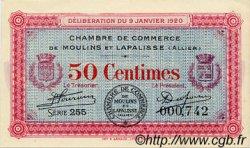 50 Centimes FRANCE régionalisme et divers Moulins et Lapalisse 1920 JP.086.15 SPL à NEUF