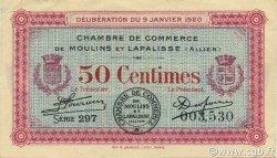 50 Centimes FRANCE régionalisme et divers Moulins et Lapalisse 1920 JP.086.15 TTB à SUP
