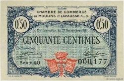 50 Centimes FRANCE régionalisme et divers Moulins et Lapalisse 1921 JP.086.22 TTB à SUP
