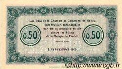50 Centimes FRANCE régionalisme et divers Nancy 1915 JP.087.02 SPL à NEUF