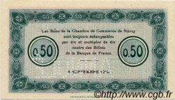 50 Centimes FRANCE régionalisme et divers Nancy 1915 JP.087.02 TTB à SUP