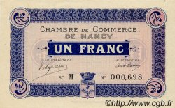 1 Franc FRANCE régionalisme et divers Nancy 1915 JP.087.03 SPL à NEUF
