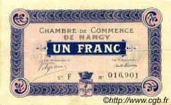 1 Franc FRANCE régionalisme et divers NANCY 1915 JP.087.03 TTB à SUP