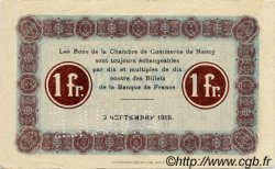 1 Franc FRANCE régionalisme et divers NANCY 1915 JP.087.04 TTB à SUP