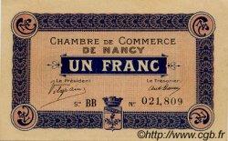 1 Franc FRANCE régionalisme et divers Nancy 1915 JP.087.05 SPL à NEUF