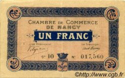 1 Franc FRANCE régionalisme et divers Nancy 1915 JP.087.05 TTB à SUP