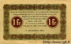 1 Franc FRANCE régionalisme et divers Nancy 1915 JP.087.05 TTB à SUP