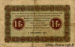 1 Franc FRANCE régionalisme et divers Nancy 1915 JP.087.05 TB