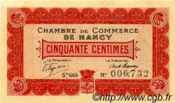 50 Centimes FRANCE régionalisme et divers NANCY 1916 JP.087.07 TTB à SUP