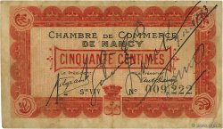 50 Centimes  FRANCE régionalisme et divers Nancy 1916 JP.087.07 TB