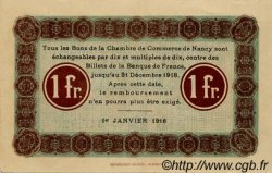 1 Franc FRANCE régionalisme et divers Nancy 1916 JP.087.08 TTB à SUP