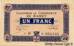 1 Franc FRANCE régionalisme et divers Nancy 1916 JP.087.09 TTB à SUP