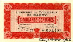 50 Centimes FRANCE régionalisme et divers NANCY 1916 JP.087.10 TTB à SUP