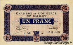 1 Franc FRANCE régionalisme et divers NANCY 1916 JP.087.11 SPL à NEUF