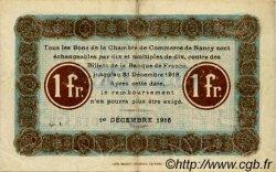1 Franc FRANCE régionalisme et divers Nancy 1916 JP.087.11 TTB à SUP