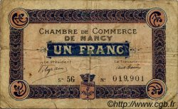 1 Franc  FRANCE régionalisme et divers Nancy 1916 JP.087.11 TB