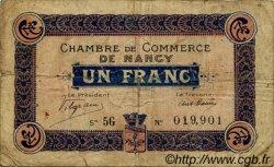 1 Franc FRANCE régionalisme et divers NANCY 1916 JP.087.11 TB