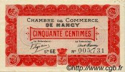 50 Centimes FRANCE régionalisme et divers NANCY 1917 JP.087.12 TTB à SUP