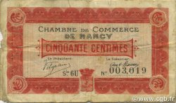 50 Centimes FRANCE régionalisme et divers Nancy 1917 JP.087.12 TB