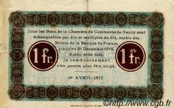 1 Franc FRANCE régionalisme et divers Nancy 1917 JP.087.13 TTB à SUP