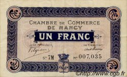 1 Franc FRANCE régionalisme et divers Nancy 1917 JP.087.15 TTB à SUP