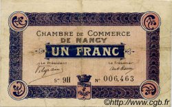1 Franc FRANCE régionalisme et divers Nancy 1918 JP.087.18 TB