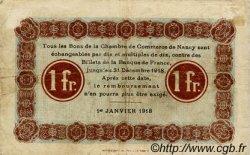 1 Franc FRANCE régionalisme et divers Nancy 1918 JP.087.18 TB