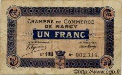 1 Franc FRANCE régionalisme et divers Nancy 1918 JP.087.19 TB