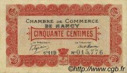 50 Centimes FRANCE régionalisme et divers Nancy 1918 JP.087.20 TTB à SUP