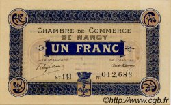 1 Franc FRANCE régionalisme et divers Nancy 1918 JP.087.23 TTB à SUP
