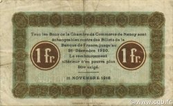 1 Franc FRANCE régionalisme et divers NANCY 1918 JP.087.23 TB